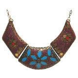 Brass Necklace with inlay work - Exquisite Shop - 6