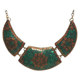 Brass Necklace with inlay work - Exquisite Shop - 7