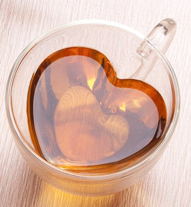 Glass Heart Coffee Cup