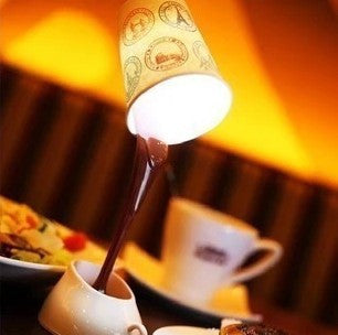Novelty Spilling Coffee Table Lamp