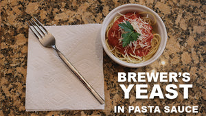 Pasta Sauce with Mommy Knows Best Brewer's Yeast