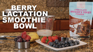Berry Lactation Smoothie Bowl with Mommy Knows Best Brewer's Yeast