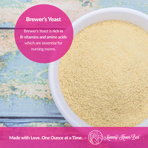 Brewers Yeast Powder for Lactation - Mommy Knows Best Brewer's Yeast for Breastfeeding Mothers - Mild Nutty Flavored Unsweetened and Debittered - 2 lb