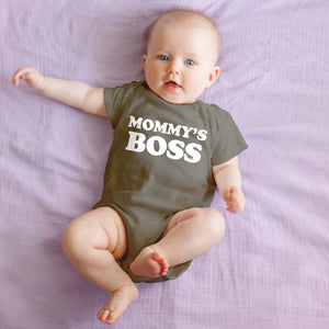 "Mommy Knows Best ""Mommy's Boss"" Onesie"