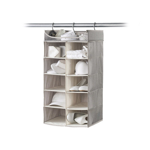 2X5 Hanging Organizer with Top Shelf - Harmony Twill