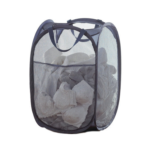Square Mesh Pop Up Hamper with Pocket