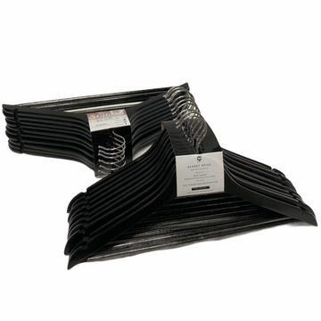 black wooden hangers, set of 40 solid black clothes wood hangers
