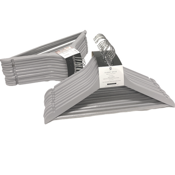 grey wooden hangers, set of 40 solid grey clothes wood hangers