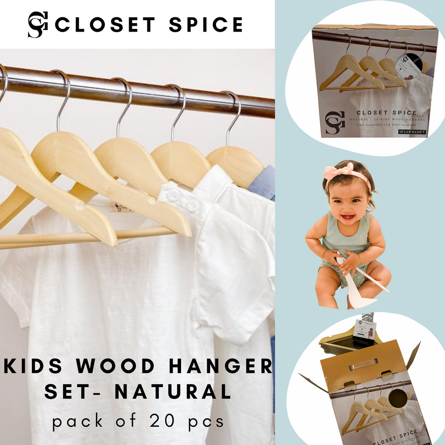 natural kids wooden hangers, children natural wood hangers