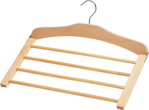 Wood 4 Tier Pant Hanger - Natural