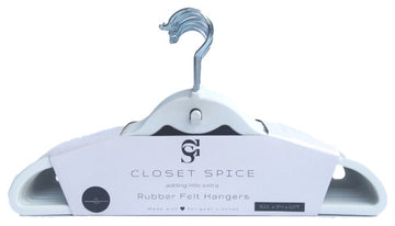 Rubber Coated Plastic Non-Slip Suit Hangers (White)