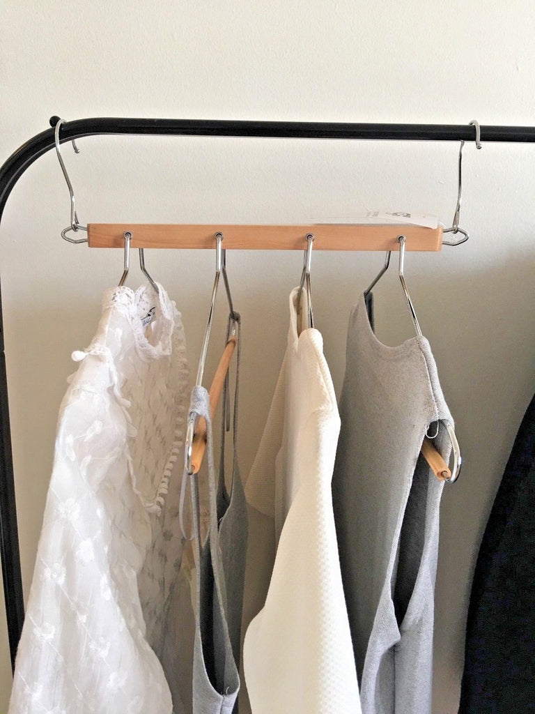 Closet Spice Wood 4 Tier Hanger - Set of 2 (Natural)