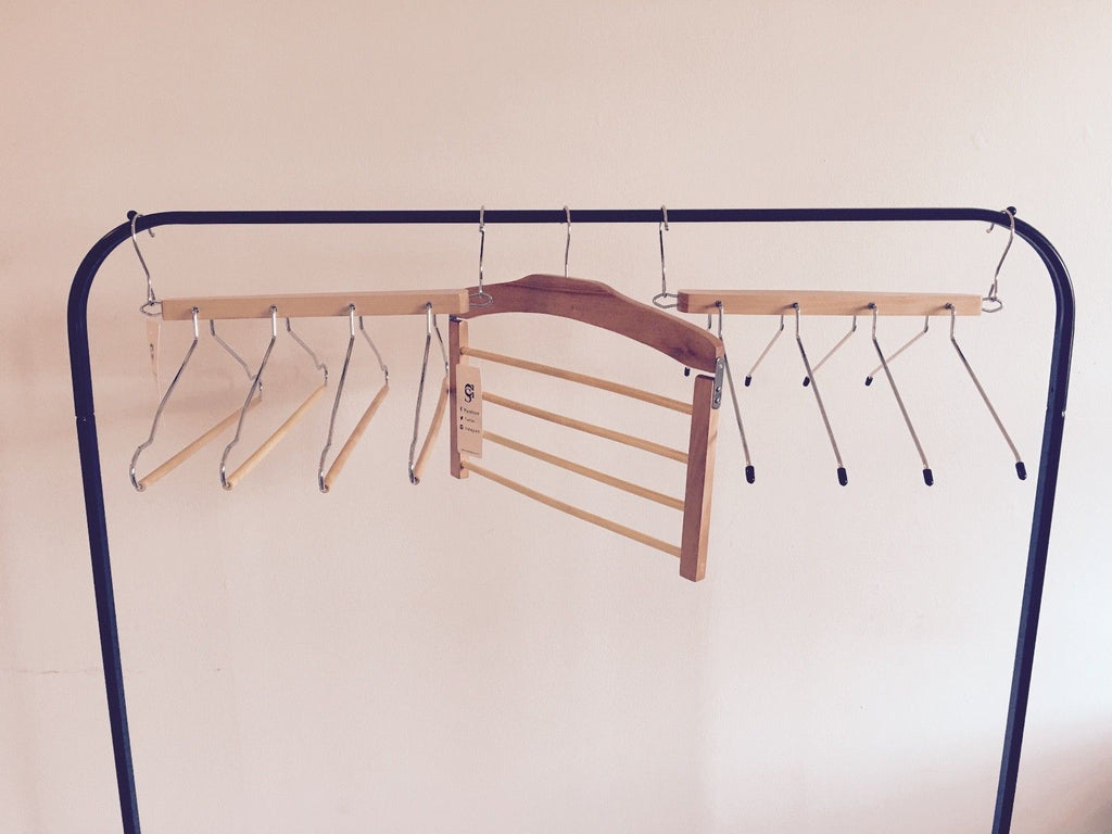 Closet Spice Wood 4 Tier Pant Hanger - Set of 2  (Natural)