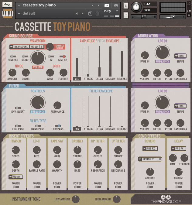 Cassette Toy Piano Kontakt version