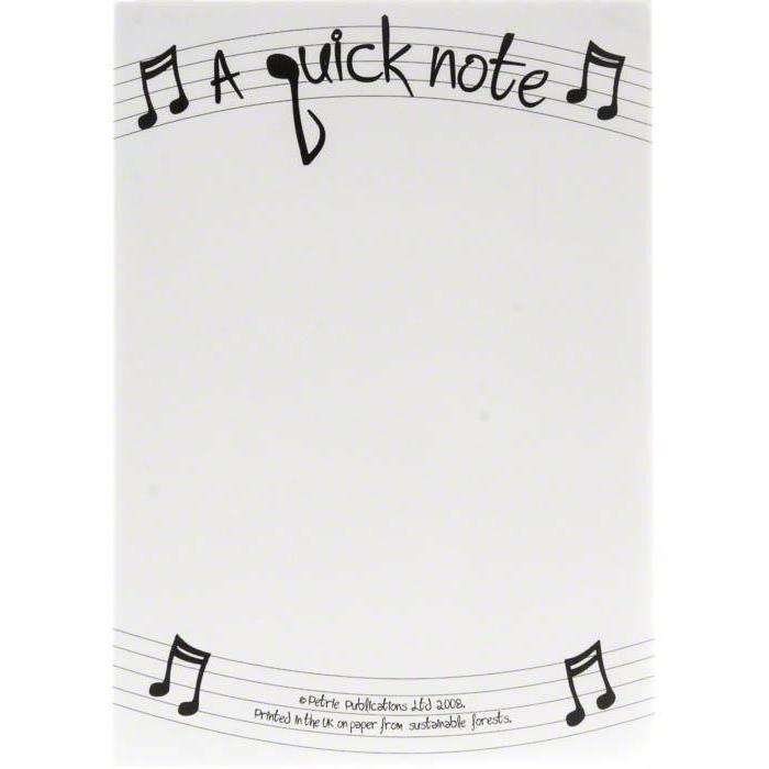 A Quick Note - 50 Sheet Notepad