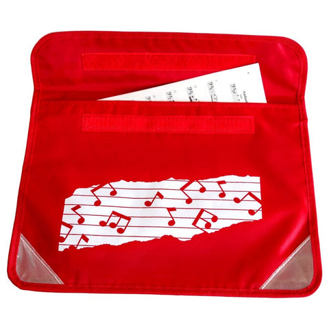 Musicwear: Wavy Stave Music Bag - Red