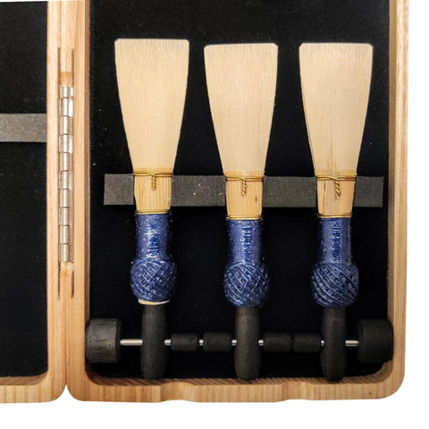Natural Wood Bassoon and Contra Reed Case (6/3 reeds with pegs)