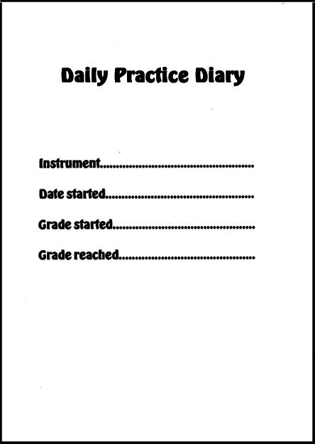 Oboists Practice Diary