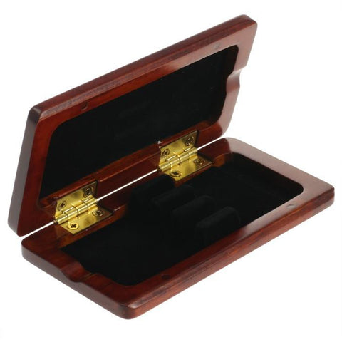 Brown Padauk Wooden Oboe Reed Case (3 Reeds)