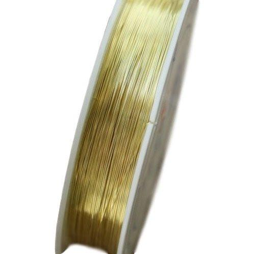 Brass Bassoon Reed Wire (Gold, 0.6mm thick, 5m long)