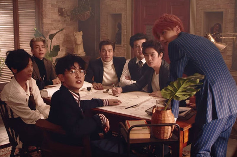 "Super Junior Get All Dressed Up to Sell a Stylish ""Black Suit"" in New Music Video"