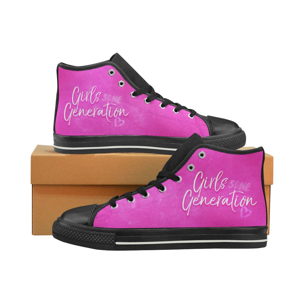 "GIRLS' GENERATION ""NEBULA"" HIGH-TOP BLACK Canvas Shoes - MYKPOPMART"