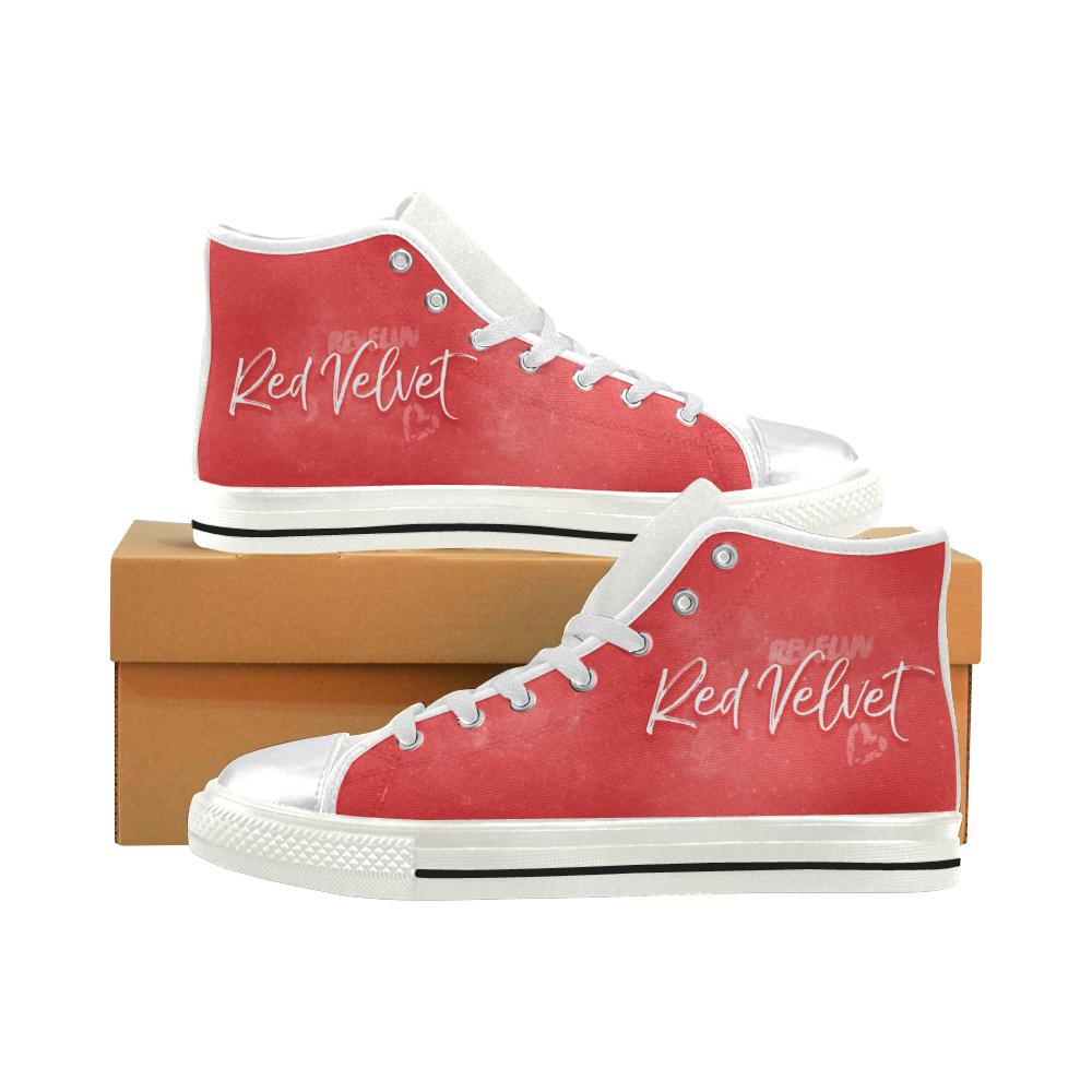 "RED VELVET ""NEBULA"" HIGH-TOP WHITE Canvas Shoes - MYKPOPMART"
