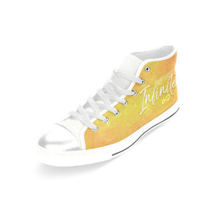 "INFINITE ""NEBULA"" HIGH-TOP WHITE Canvas Shoes - MYKPOPMART"