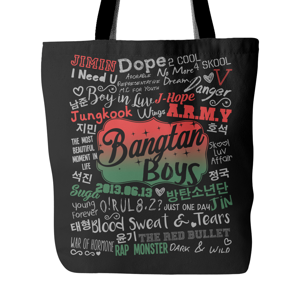 "BTS ""COLLAGE"" 2016 Tote Bags - MYKPOPMART"