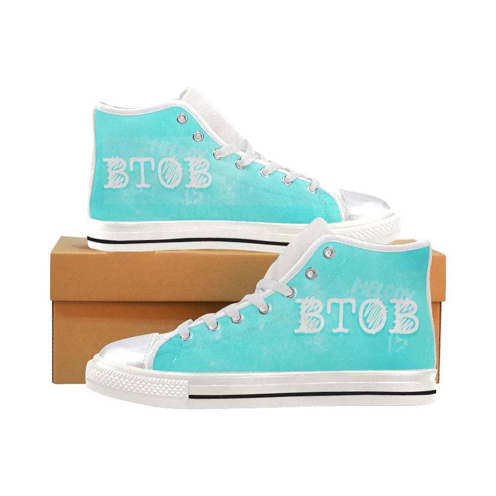 "BtoB ""NEBULA"" HIGH-TOP WHITE Canvas Shoes - MYKPOPMART"