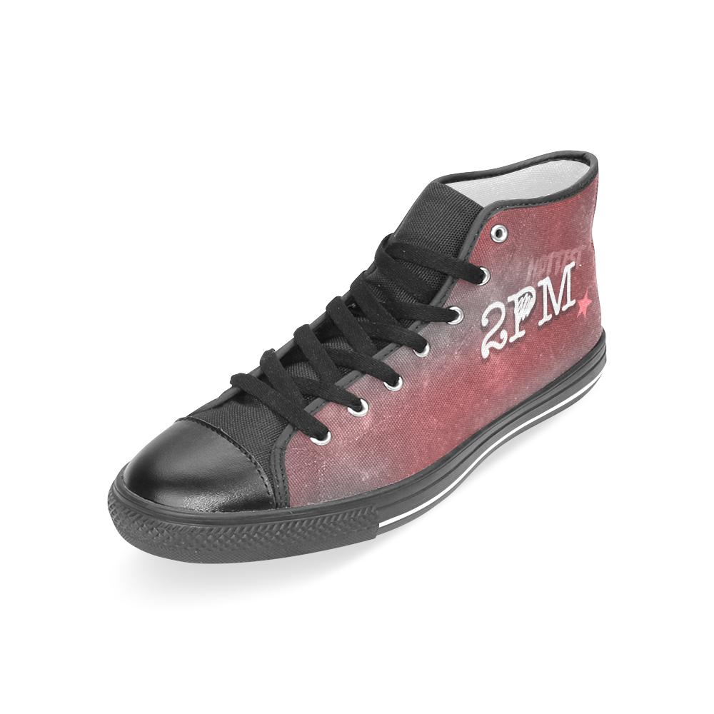 "2PM ""NEBULA"" HIGH-TOP BLACK Canvas Shoes - MYKPOPMART"