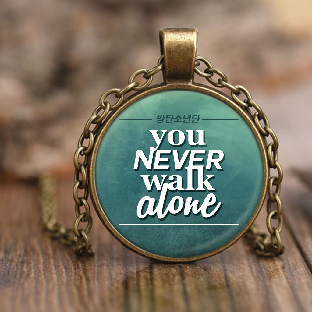 "BTS ""YOU NEVER WALK ALONE"" Necklaces - MYKPOPMART"