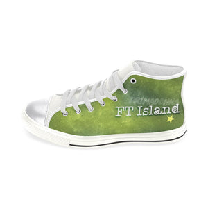 "FT ISLAND ""NEBULA"" HIGH-TOP WHITE Canvas Shoes - MYKPOPMART"