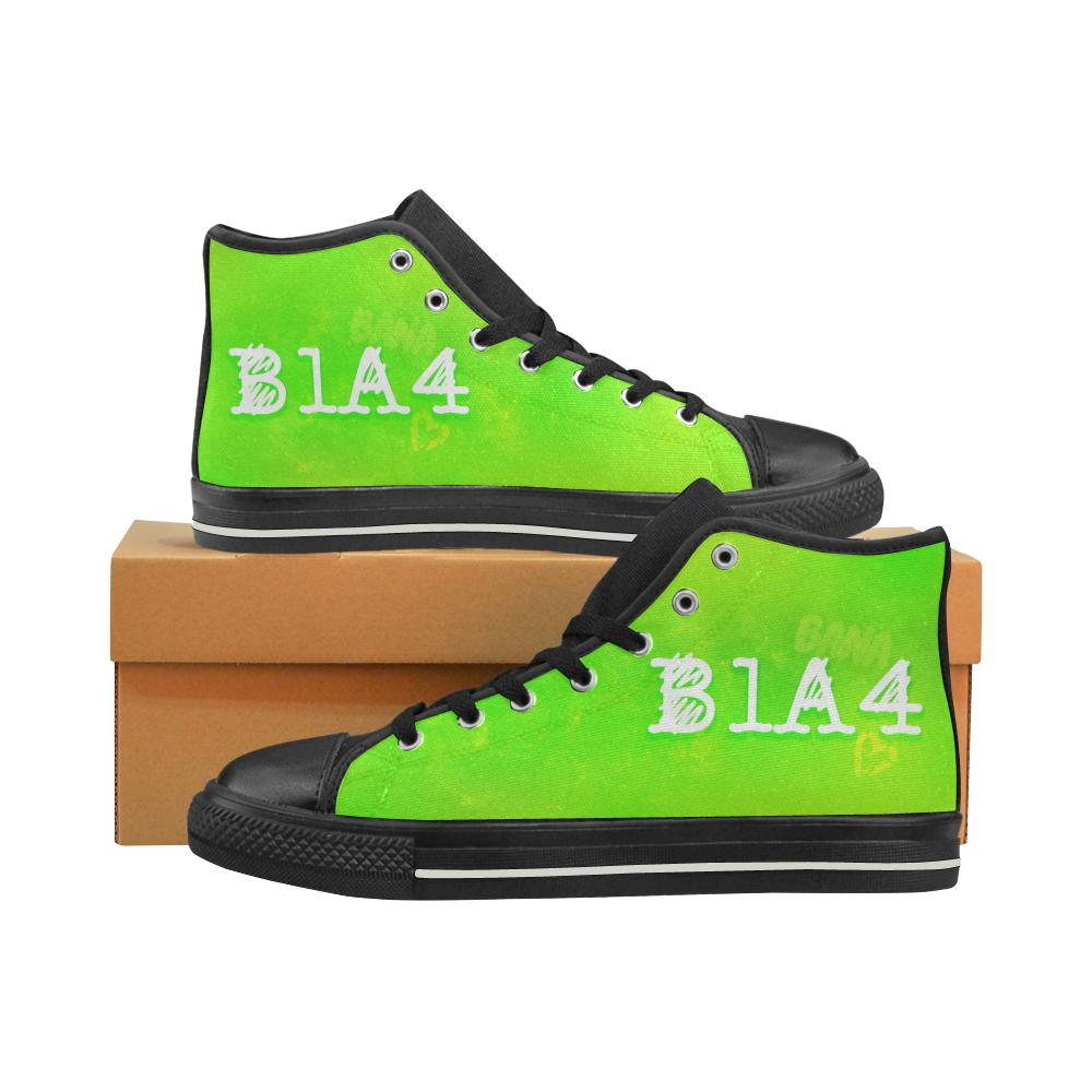"B1A4 ""NEBULA"" HIGH-TOP BLACK Canvas Shoes - MYKPOPMART"