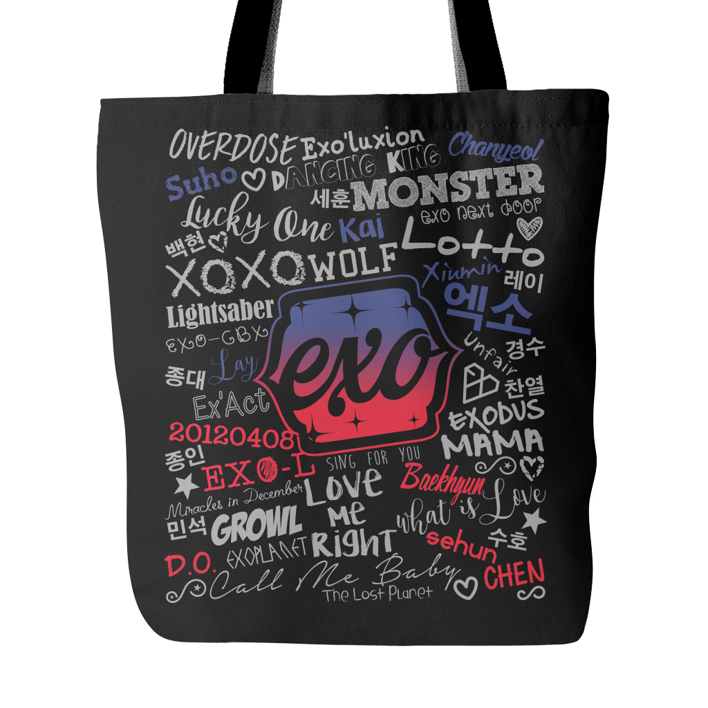 "EXO ""COLLAGE"" 2016 Tote Bags - MYKPOPMART"