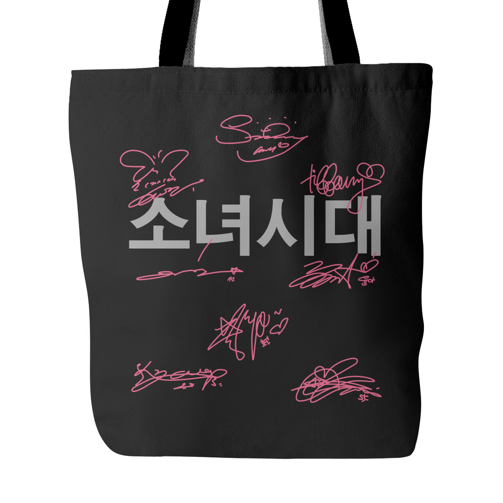 "GIRLS' GENERATION ""AUTOGRAPH"" Tote Bags - MYKPOPMART"