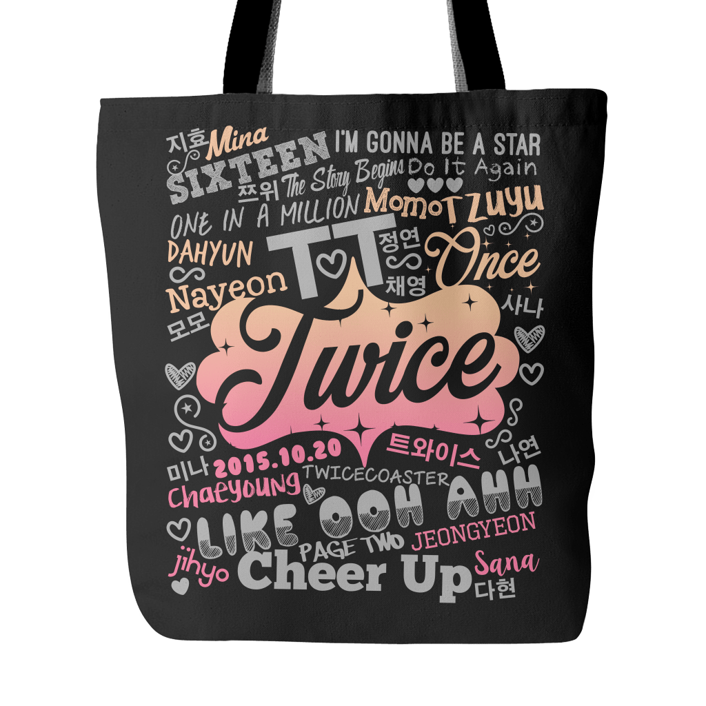 "TWICE ""COLLAGE"" 2016 Tote Bags - MYKPOPMART"