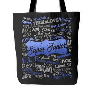"SUPER JUNIOR ""COLLAGE"" 2016 Tote Bags - MYKPOPMART"