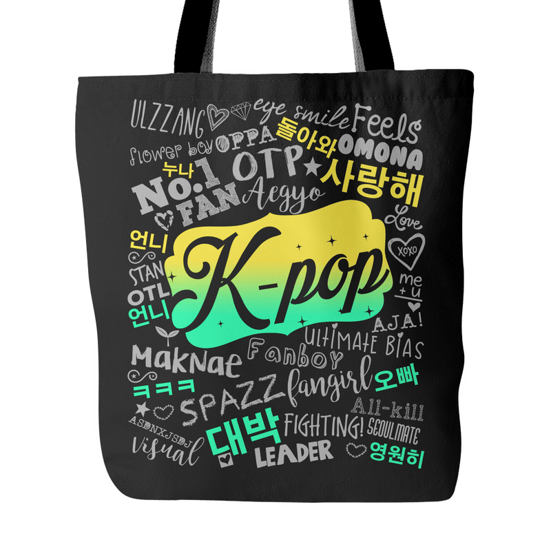 "K-POP ""COLLAGE"" 2016 Tote Bags - MYKPOPMART"