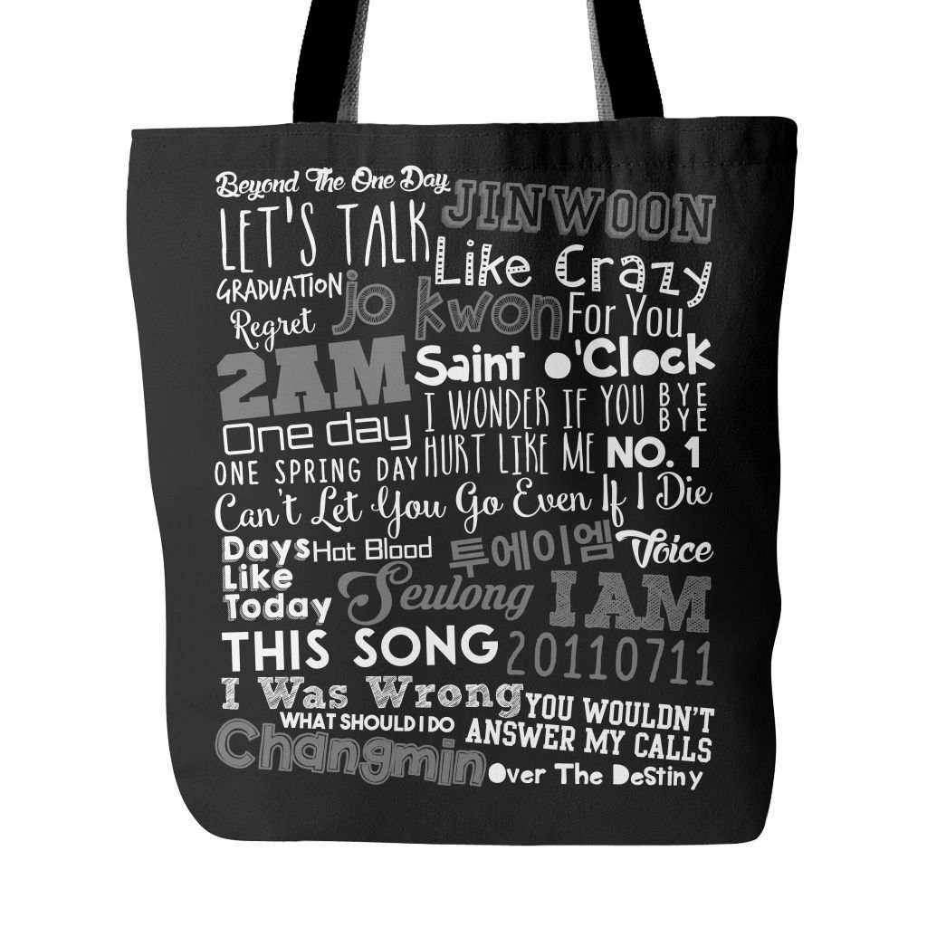 "2AM ""COLLAGE"" Tote Bags - MYKPOPMART"