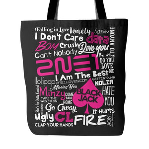 "2NE1 ""COLLAGE"" Tote Bags - MYKPOPMART"
