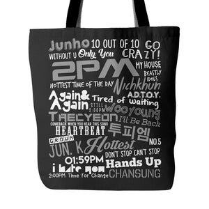 "2PM ""COLLAGE"" Tote Bags - MYKPOPMART"