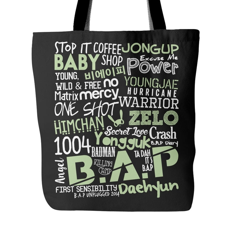 "B.A.P ""COLLAGE"" Tote Bags - MYKPOPMART"