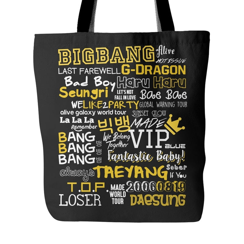 "BIG BANG ""COLLAGE"" Tote Bags - MYKPOPMART"