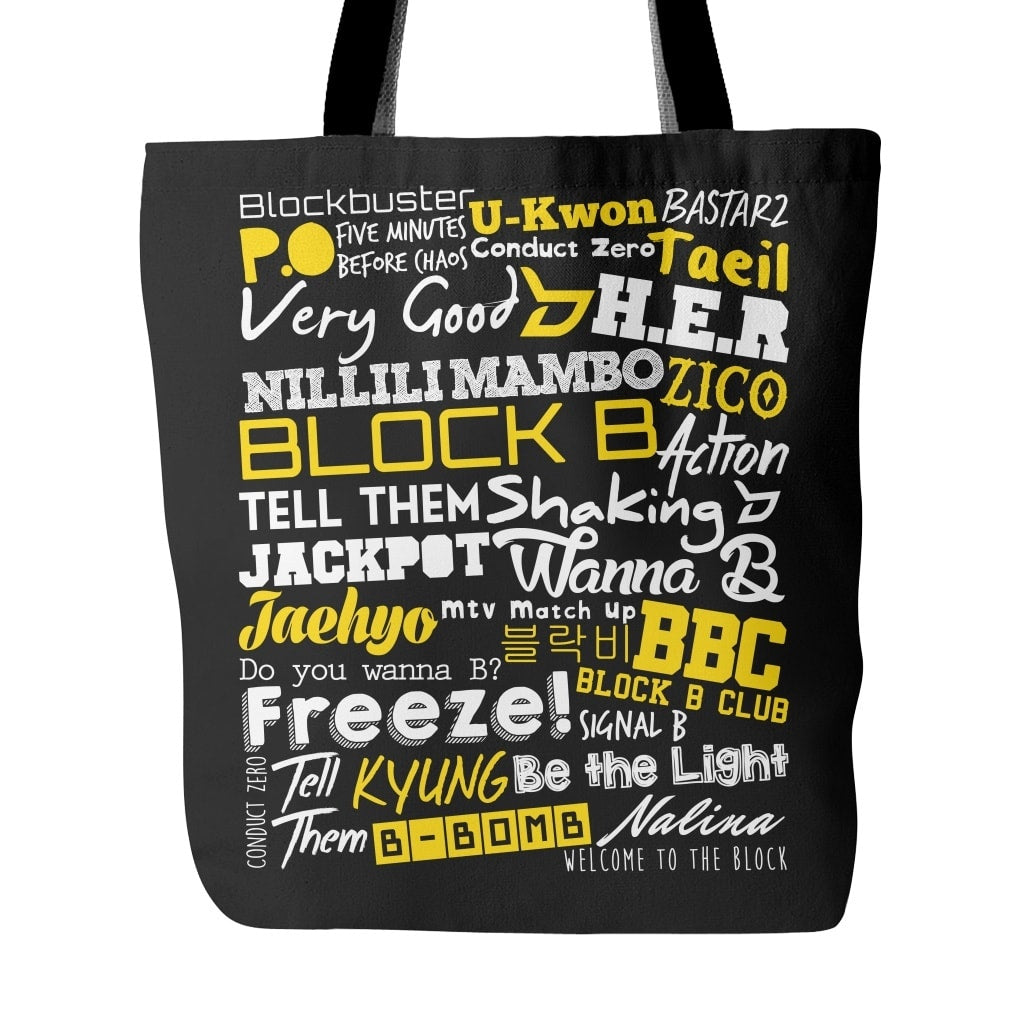 "BLOCK B ""COLLAGE"" Tote Bags - MYKPOPMART"