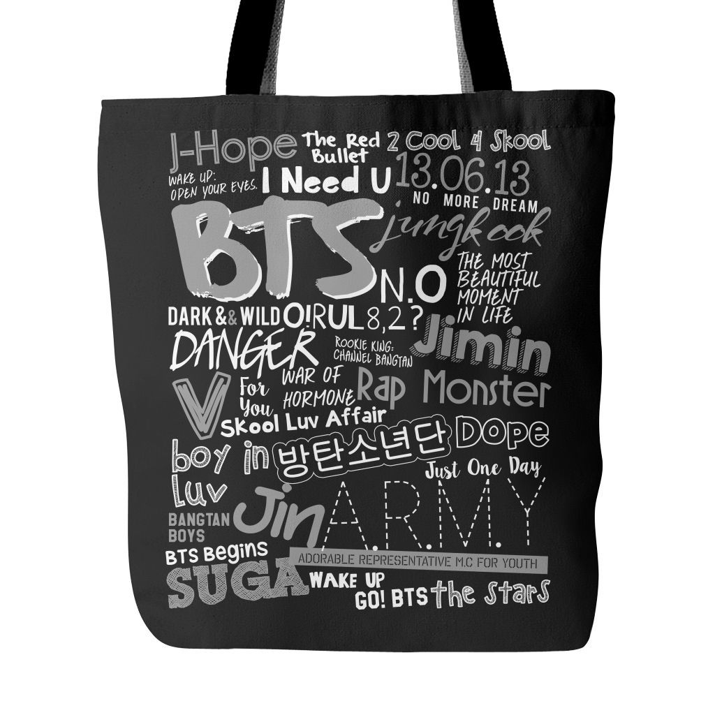 "BTS ""COLLAGE"" Tote Bags - MYKPOPMART"