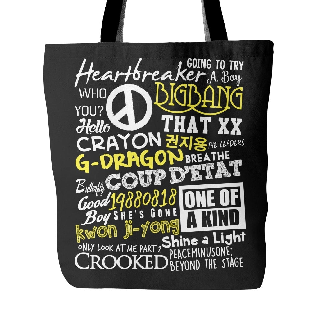 "G-DRAGON ""COLLAGE"" Tote Bags - MYKPOPMART"