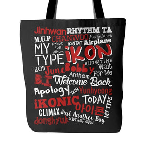 "iKON ""COLLAGE"" Tote Bags - MYKPOPMART"