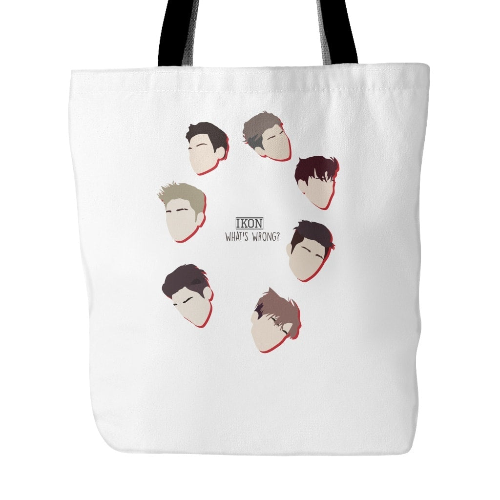 "iKON ""WHAT'S WRONG"" Tote Bags - MYKPOPMART"
