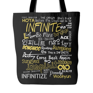 "INFINITE ""COLLAGE"" Tote Bags - MYKPOPMART"